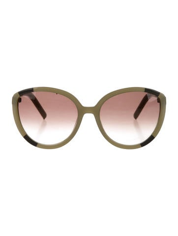 Chloé Two-Tone Oversize Sunglasses