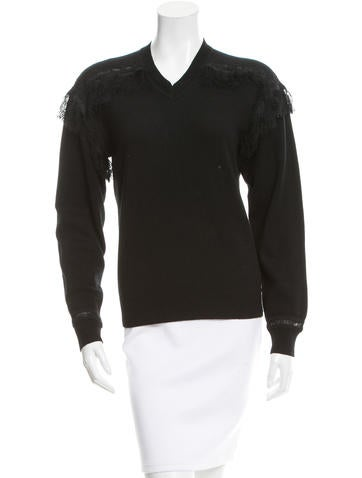 Chloé Fringed Cashmere Sweater None