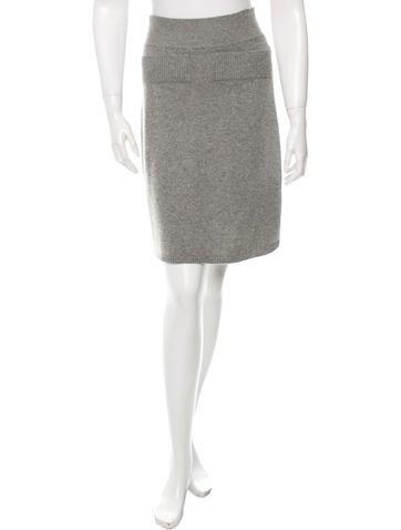 Chloé Cashmere A-Line Skirt None