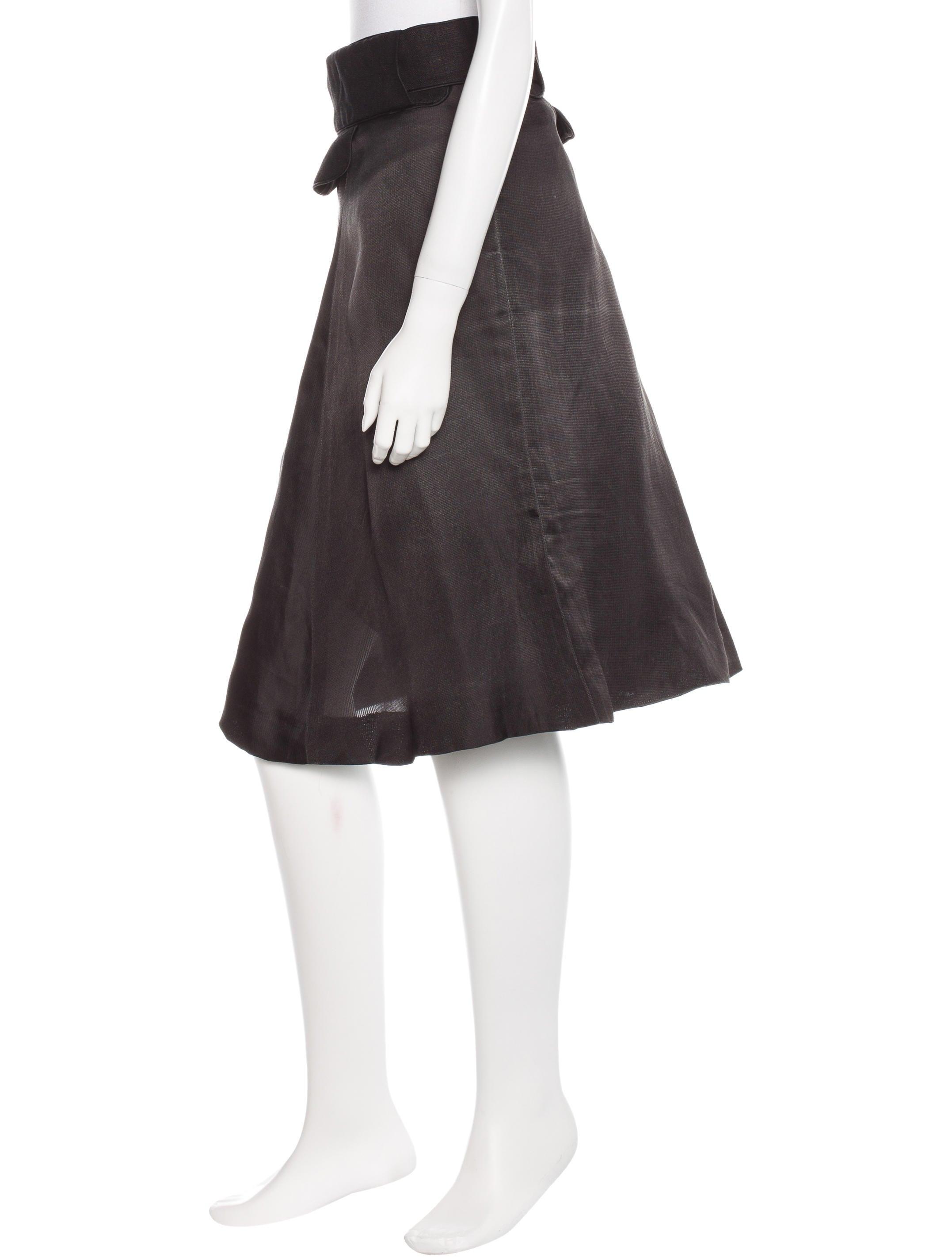 chlo 233 linen knee length skirt clothing chl45930 the