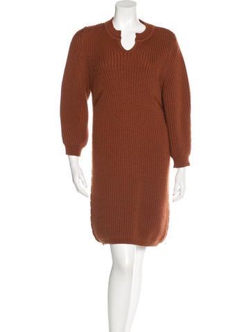 Chloé Rib Knit Sweater Dress None