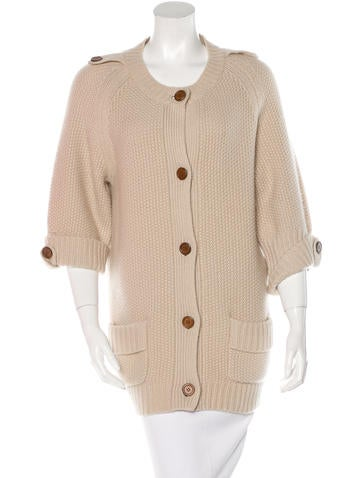 Chloé Pocketed Cashmere Cardigan None