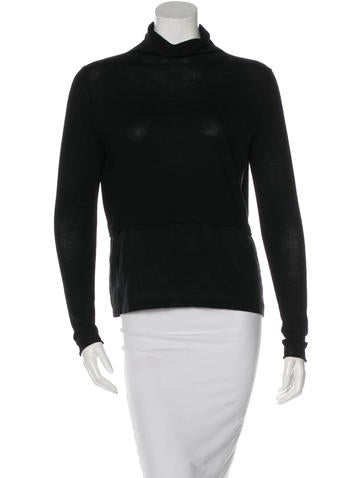 Chloé Wool Silk-Trimmed Top None