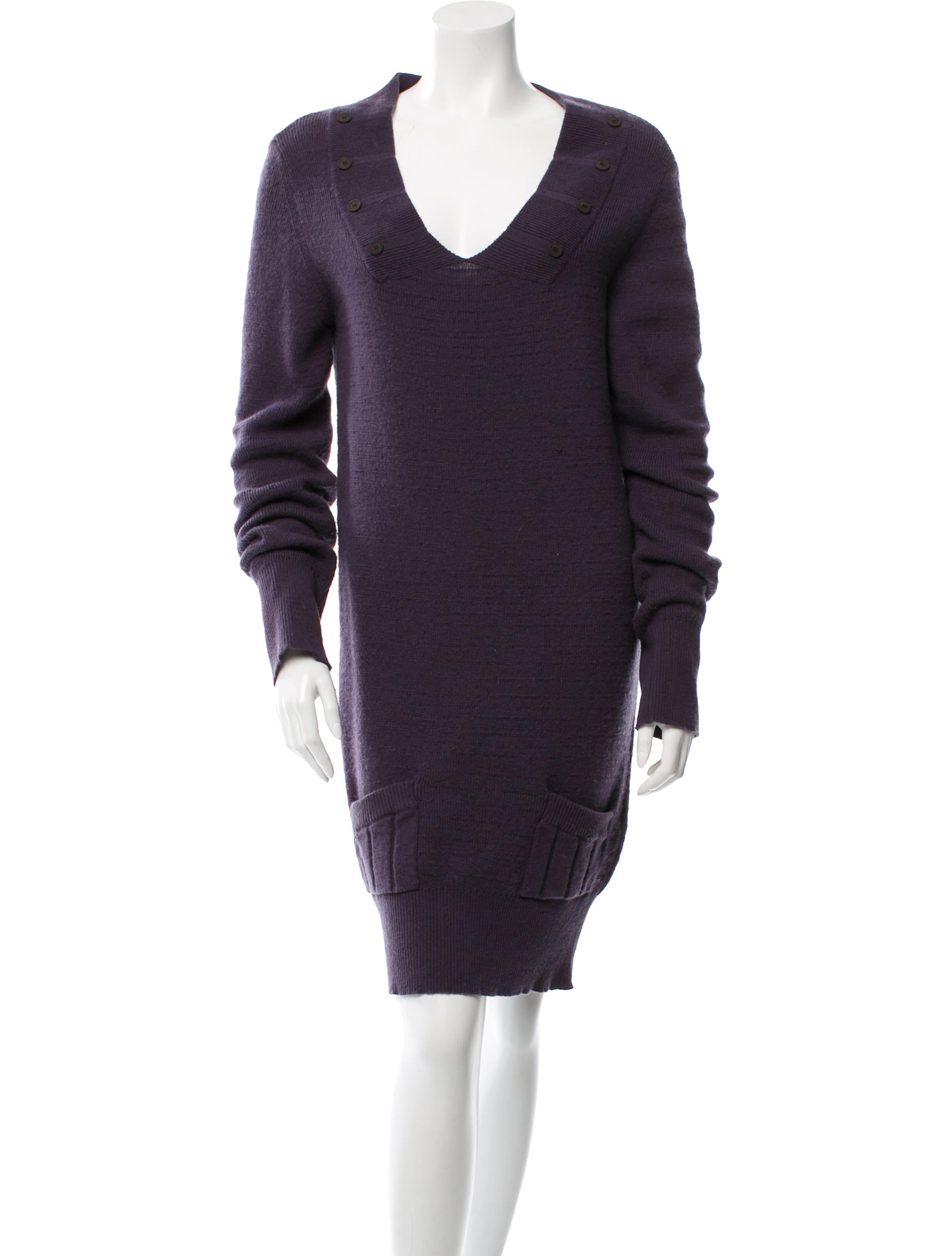 Chlou00e9 Wool Sweater Dress - Clothing - CHL46677 | The RealReal