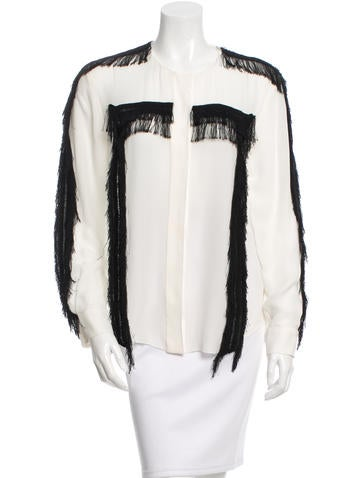 Chloé Fringe Sheer Top