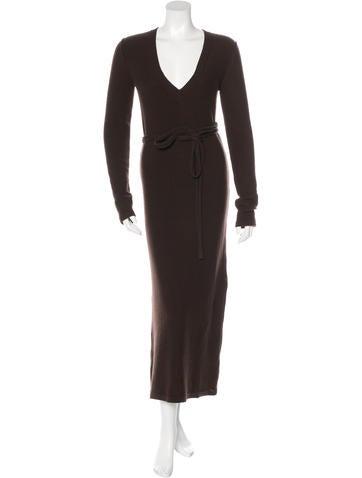 Chloé Wool & Cashmere-Blend Maxi Dress None