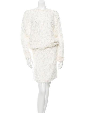 Chloé Fringe Midi Dress
