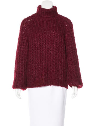 Chloé Silk & Mohair-Blend Sweater None