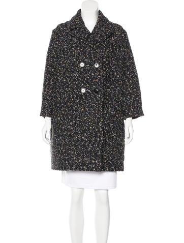 Chloé Bouclé Cocoon Coat
