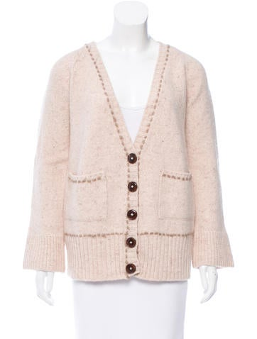 Chloé Wool Long Sleeve Cardigan None