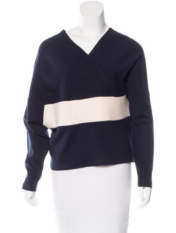 Chloé Wool-Blend V-neck Sweater