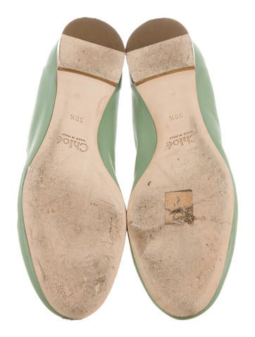 Leather Scalloped Flats