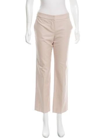 Chloé Straight-Leg Mid-Rise Pants