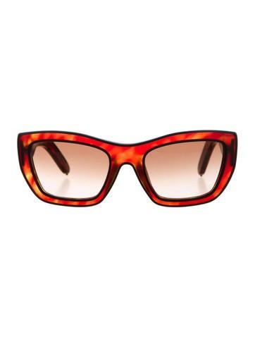 Chloé Marbled Acetate Sunglasses