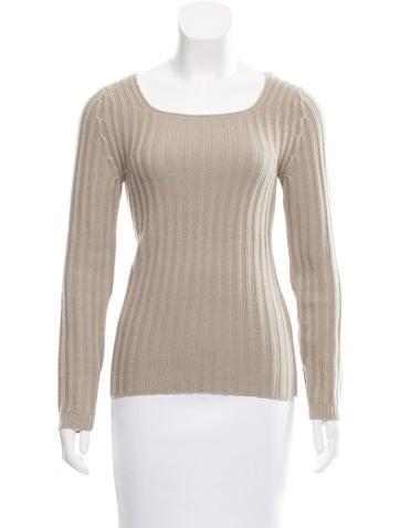 Chloé Rib Knit Cashmere Sweater None