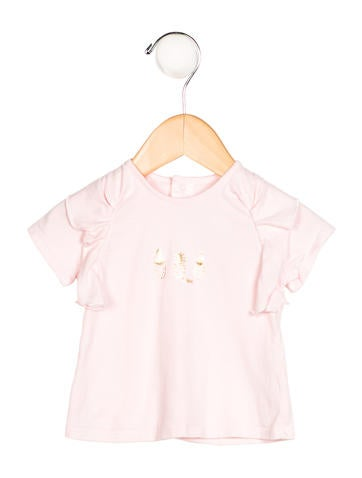 Chloé Girls' Ruffle-Trimmed Pineapple Top
