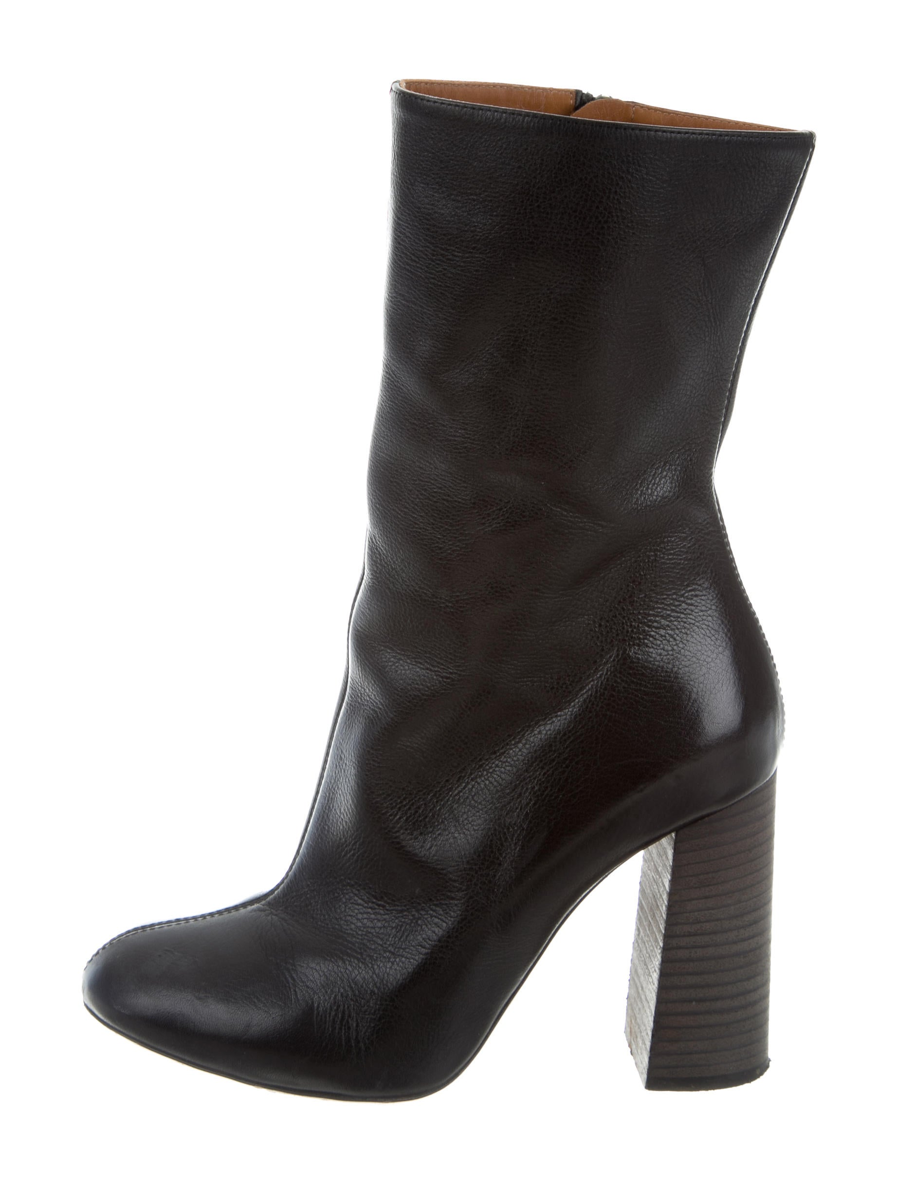 visa payment sale online Céline Leather Round-Toe Boots for sale online 59c0tiQvj