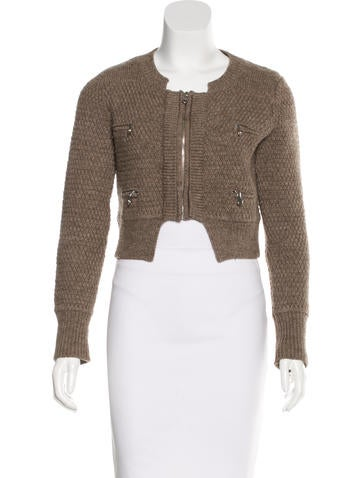 Chloé Wool Zip-Up Sweater None