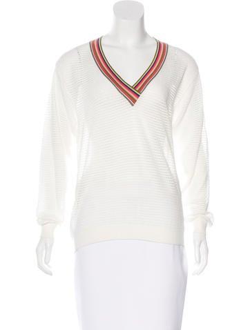 Chloé Long Sleeve Open Knit Sweater None