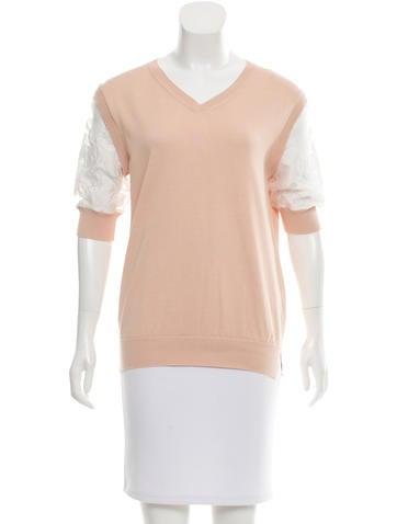 Chloé Short Sleeve Knit Top