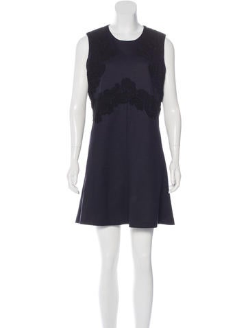 Chloé Lace-Embroidered Shift Dress w/ Tags None