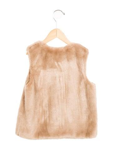 Girls' Faux Fur Scoop Neck Vest