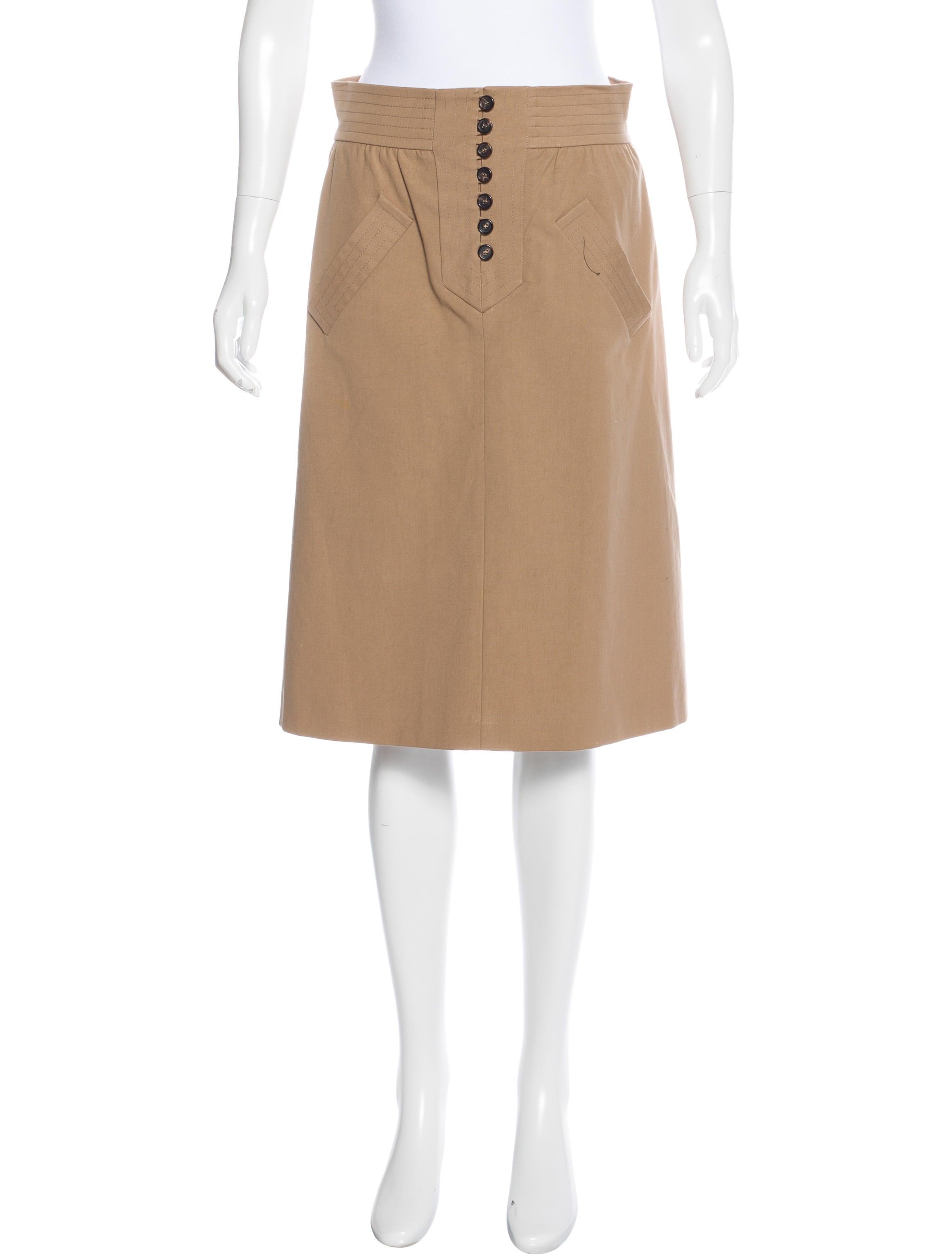 chlo 233 knee length a line pencil skirt clothing
