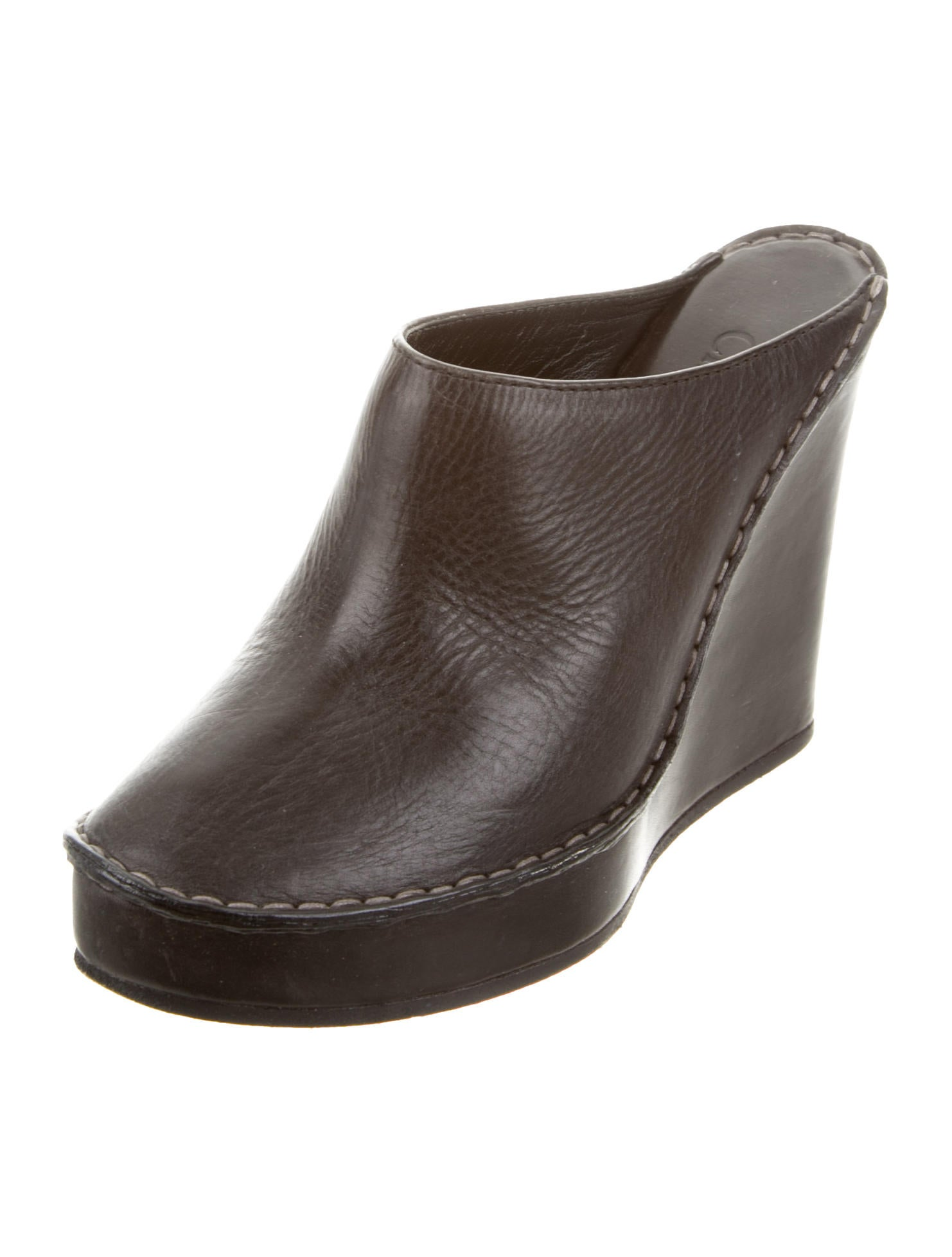 chlo 233 leather platform mules shoes chl52224 the realreal