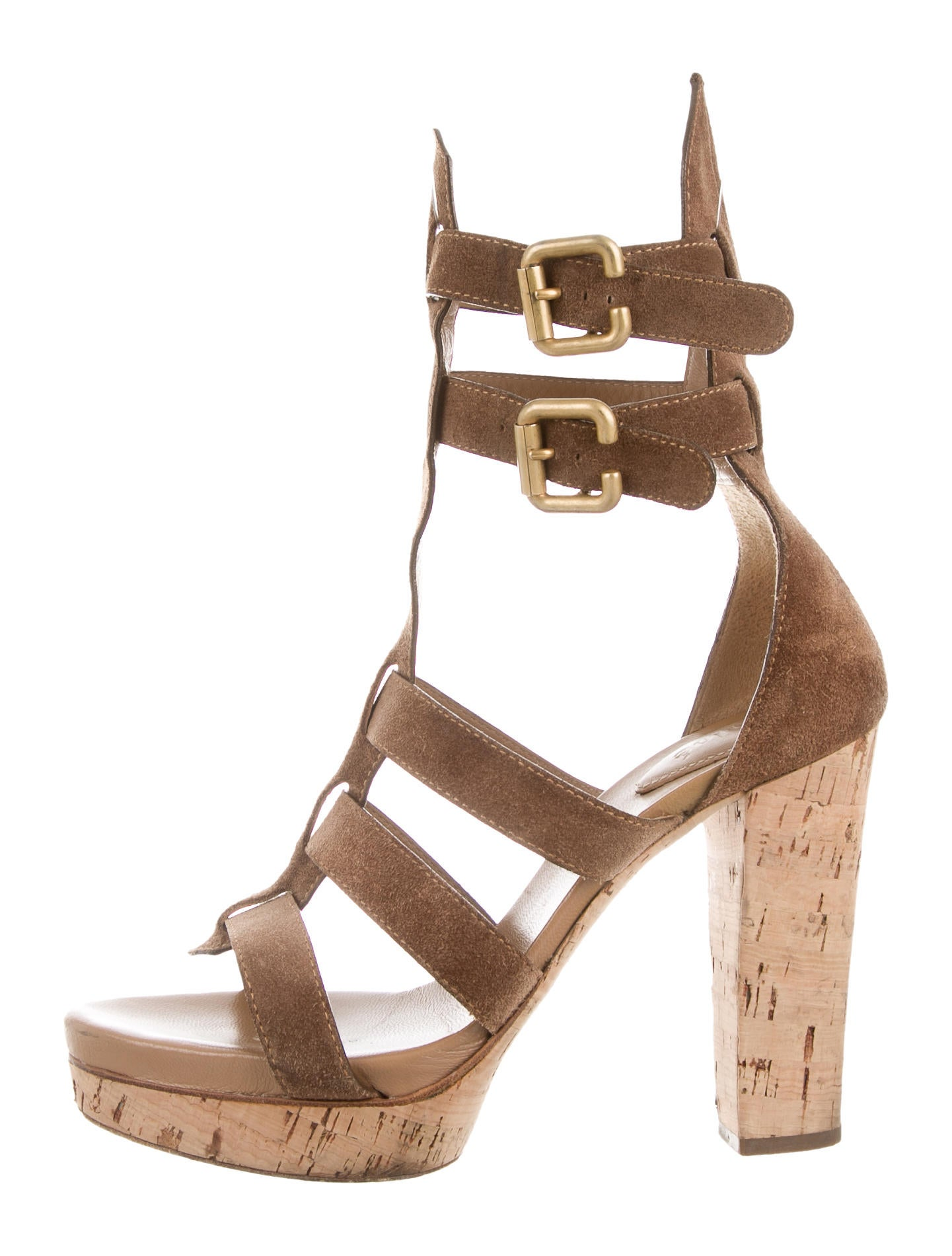 Chloé Platform Cage Sandals - Shoes