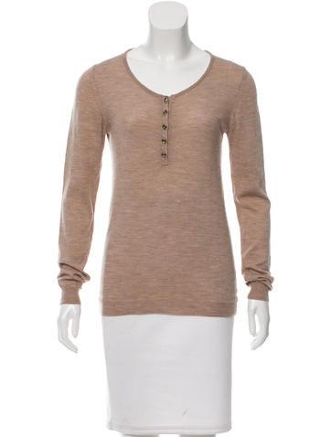 Chloé Wool Long Sleeve Top None