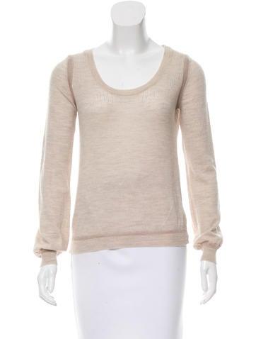 Chloé Merino Wool Scoop Neck Sweater None