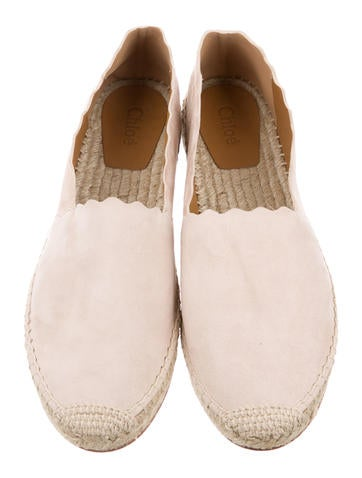 Scalloped Espadrille Flats