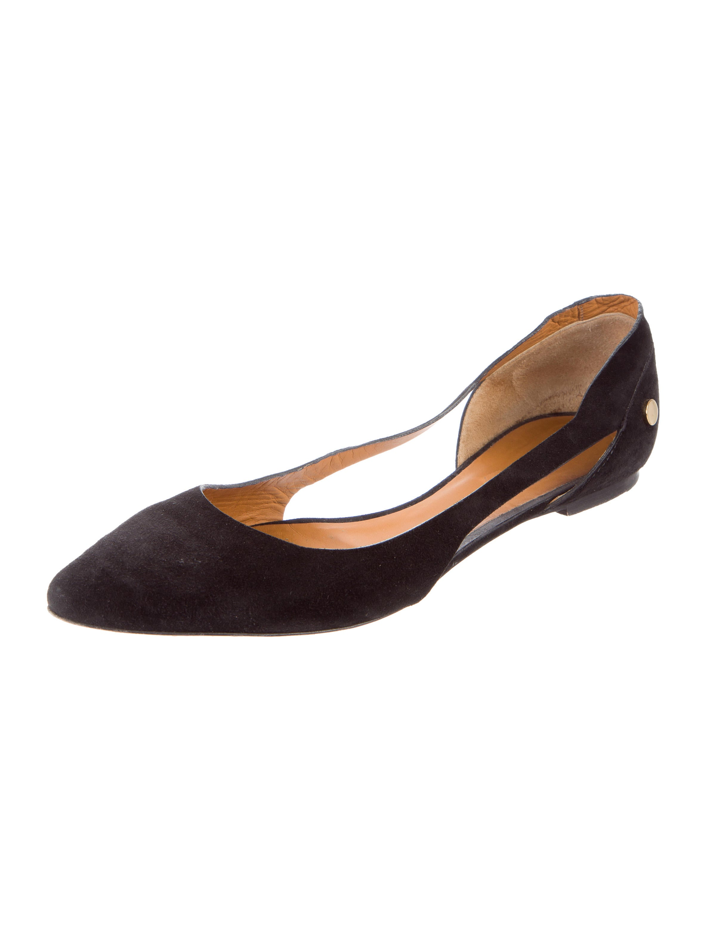 Chlo 233 Suede Pointed Toe Flats Shoes Chl53770 The