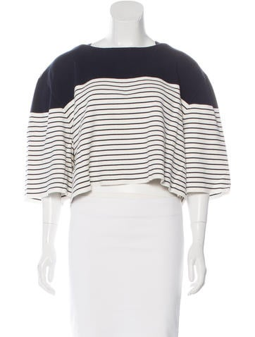 Chloé Striped Crop Top None