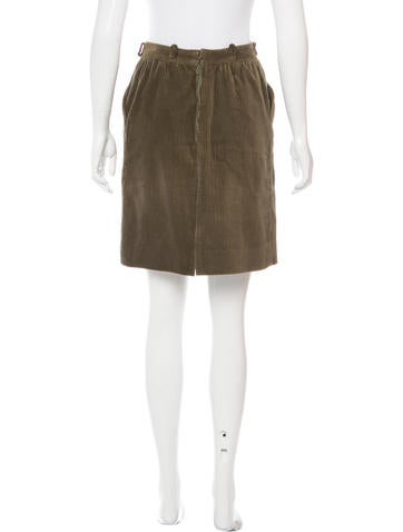 chlo 233 corduroy knee length skirt clothing chl54046