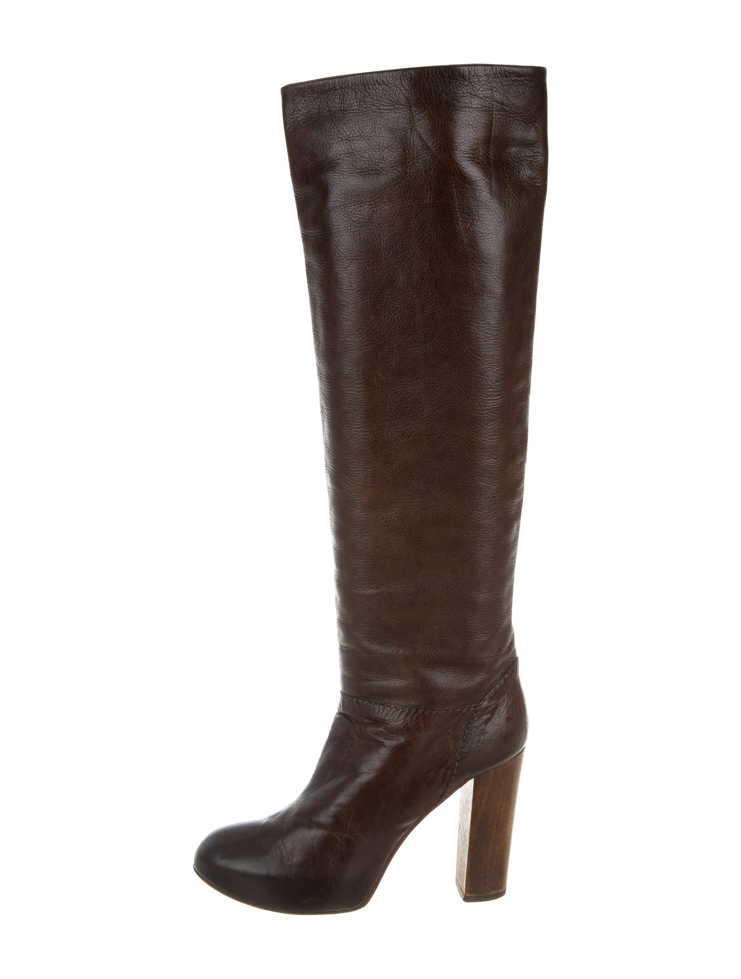 chlo 233 leather platform boots shoes chl54169 the realreal