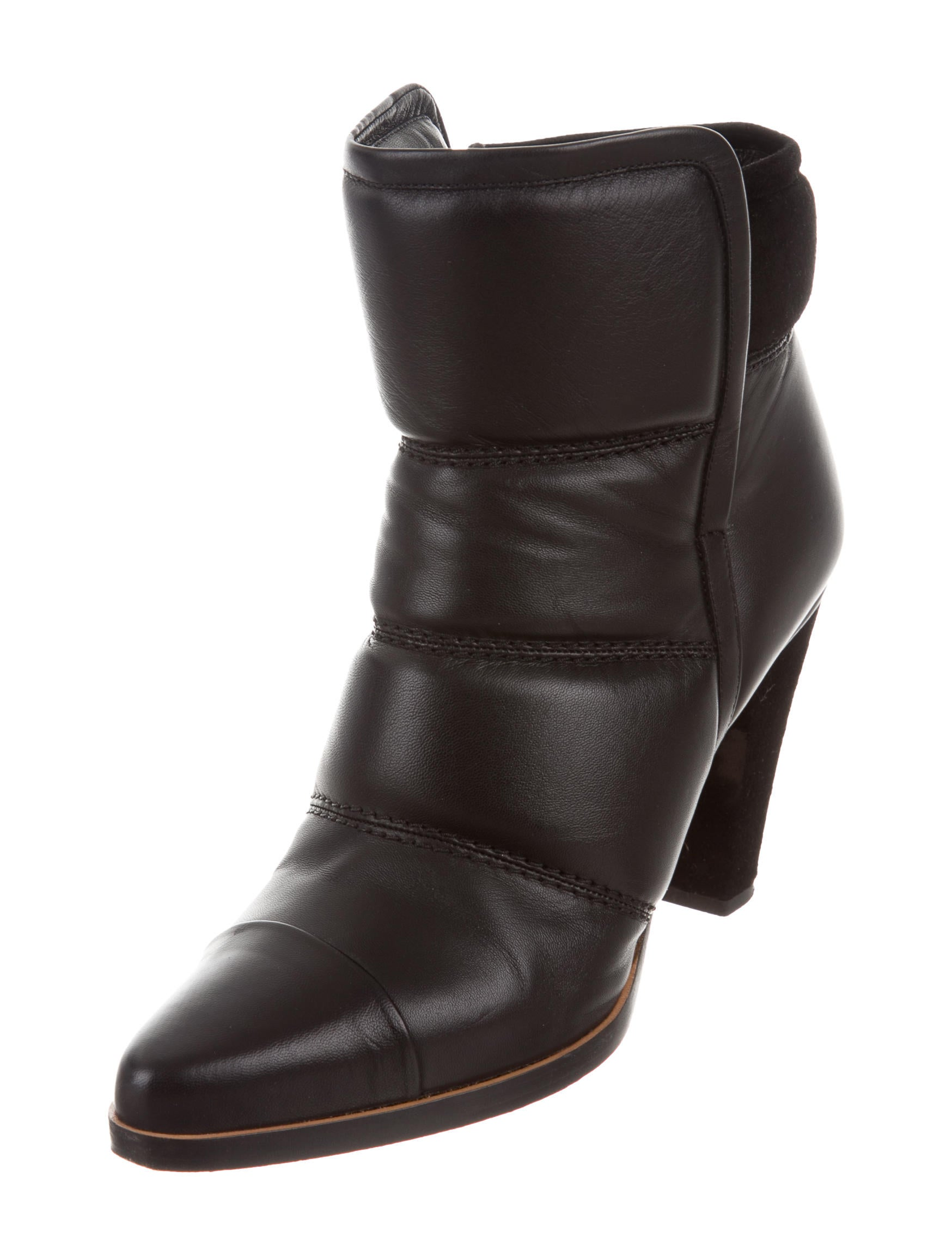 chlo leather ankle boots shoes chl54835 the realreal. Black Bedroom Furniture Sets. Home Design Ideas