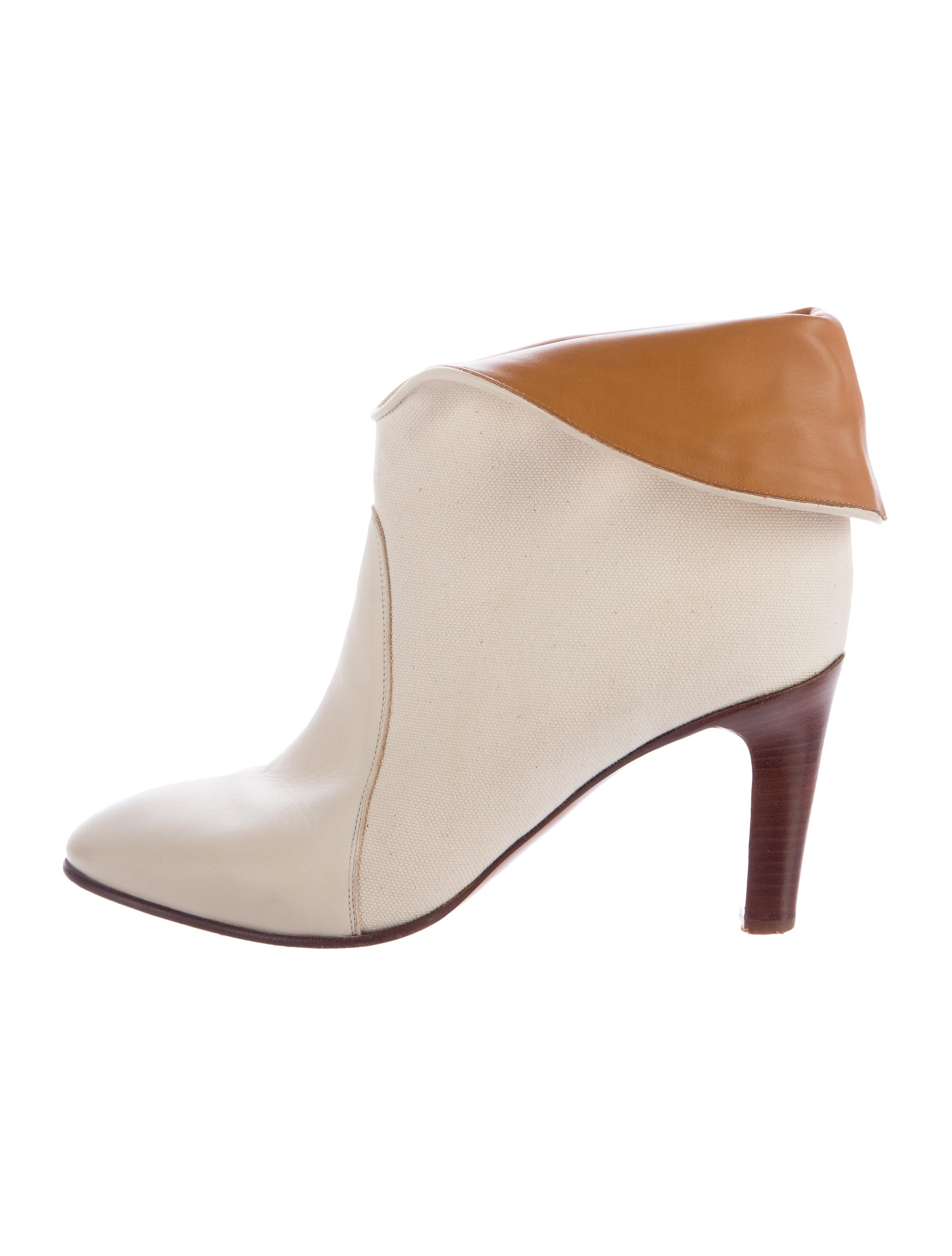 chlo 233 canvas toe ankle boots shoes chl55453
