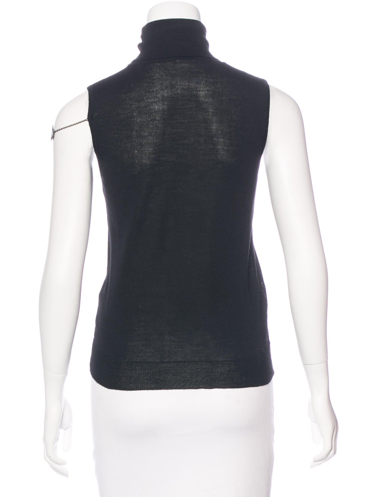 Chlo wool sleeveless top clothing chl55985 the realreal for Best wool shirt jackets