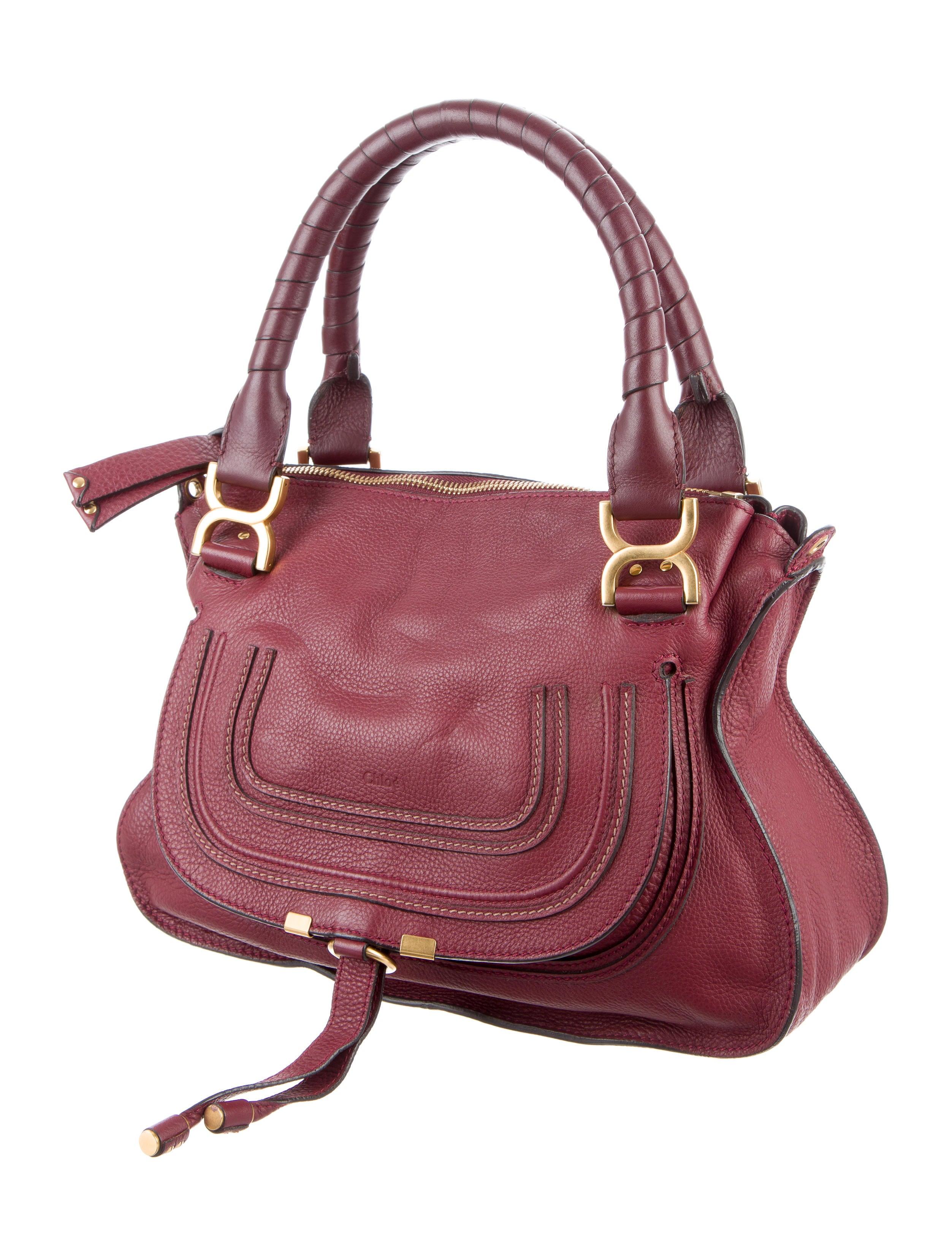chlo medium marcie satchel handbags chl57046 the realreal. Black Bedroom Furniture Sets. Home Design Ideas