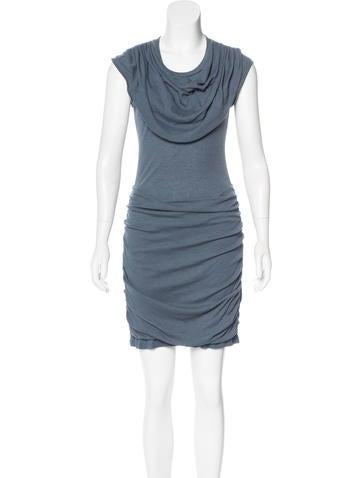 Chloé Draped Knee-Length Dress None