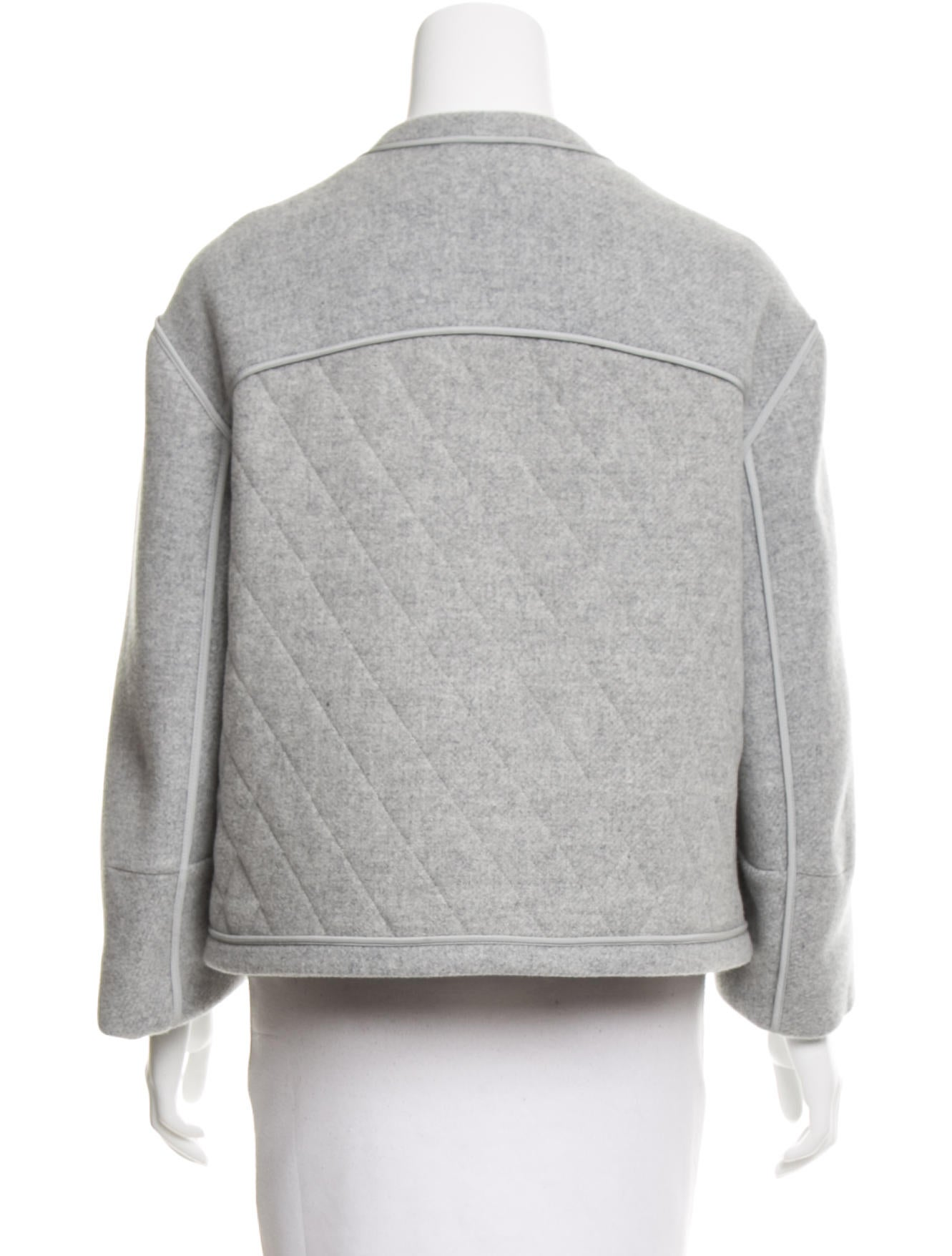 Chlo Silk Wool Blend Quilted Jacket Clothing