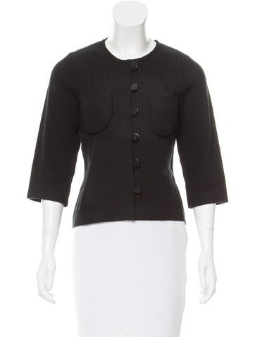 Chloé Rib Knit Button-Up Cardigan None