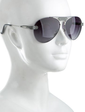 de79e51a43 Chloe Aviator Sunglasses With Leather Trim