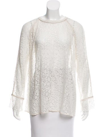 Chloé Lace Long Sleeve Blouse None