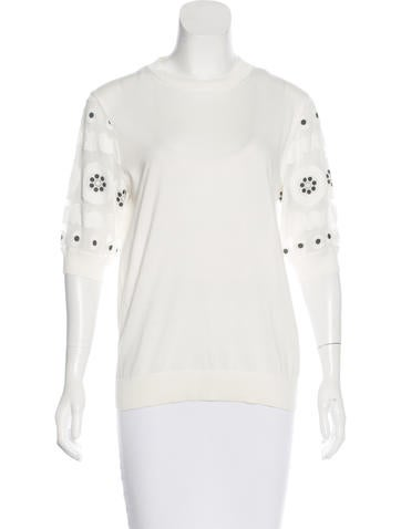 Chloé 2015 Embroidered Top None