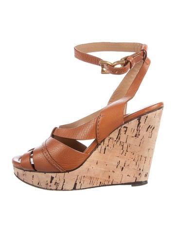 Chloé Platform Wedge Sandals None