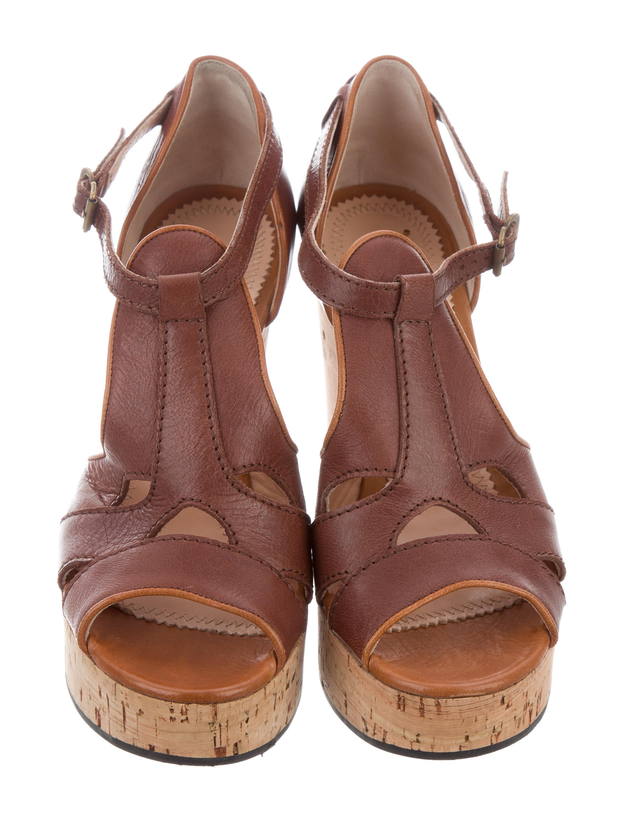 Chlo 233 Cork Platform Wedges Shoes Chl60939 The Realreal