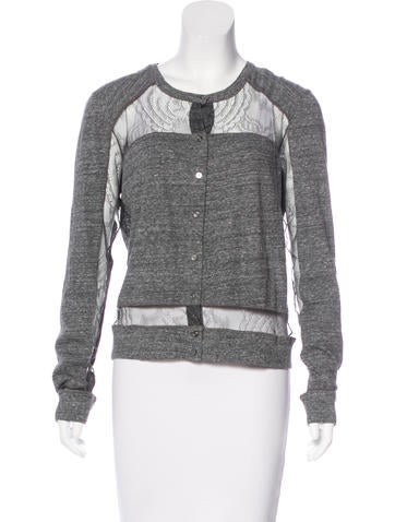 Chloé Lace-Trimmed Knit Cardigan w/ Tags None