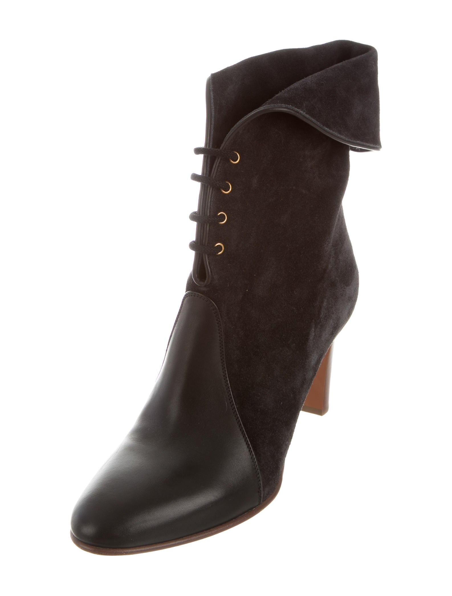 chlo 233 suede leather trimmed boots shoes chl61372 the